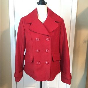 Guess Jackets & Coats - Guess Wool Blend Red Coat - XL